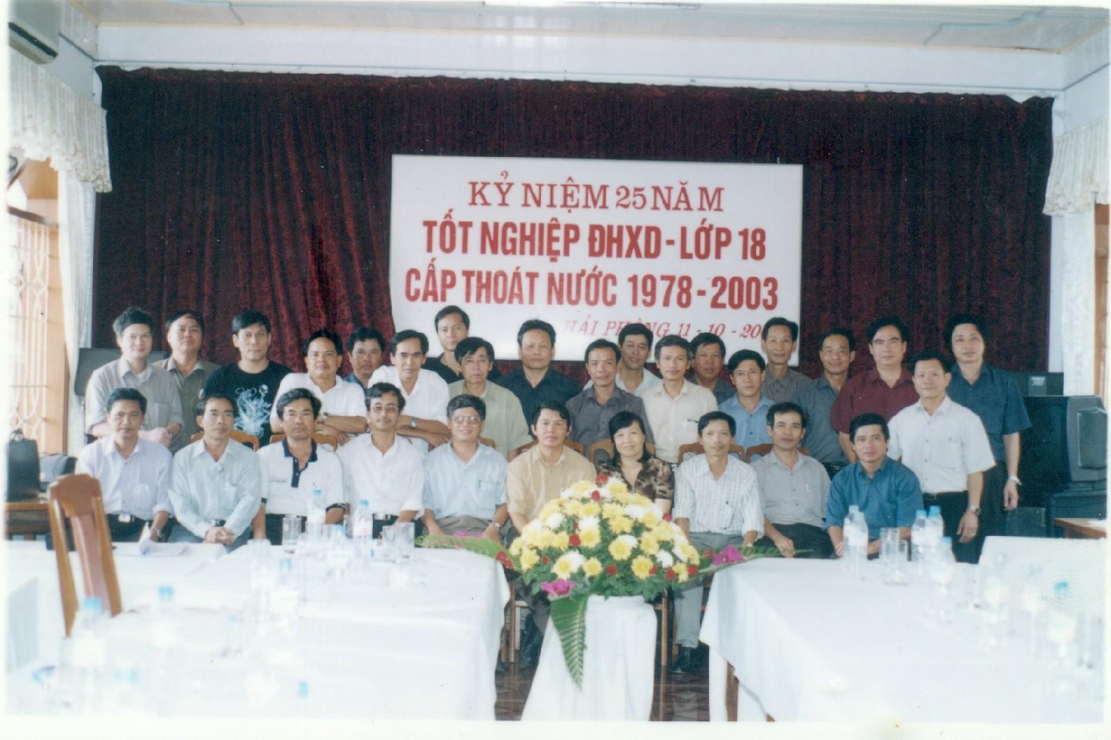 Kỷ niệm 25 năm ra trường lớp 18 CTN