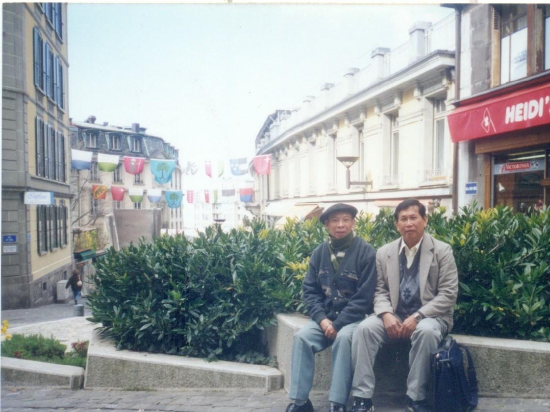GS Trần Hiếu Nhuệ và GS Lâm Minh Triết tai Thuy Si