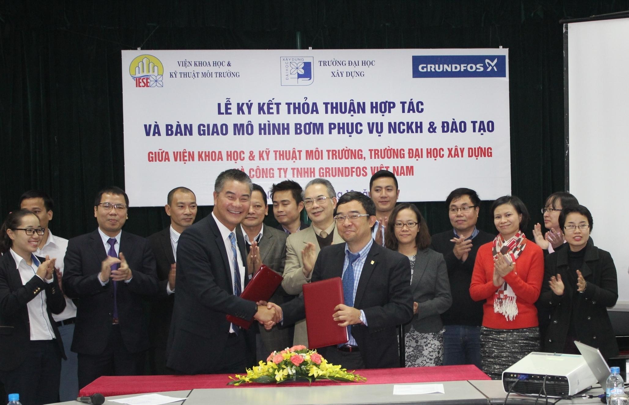 Ký kết thỏa thuận hợp tác với CT Grundfos Việt Nam